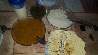 Served with Rice, Pappad and Greens
