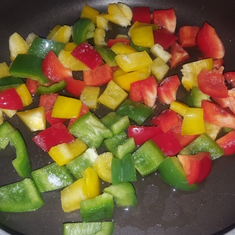 Saute the capsicum in oil