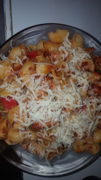 Transfer it to a Glass bowl and add more grated cheese