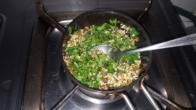 then washed fresh coriander
