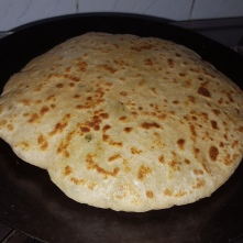 Tada!! served with cold curd
