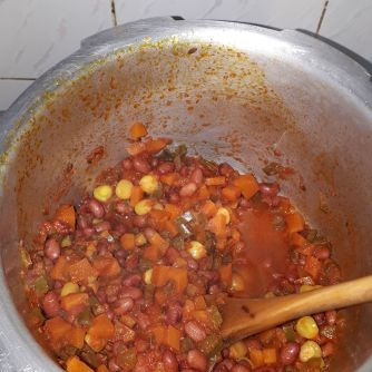 The beans mixture
